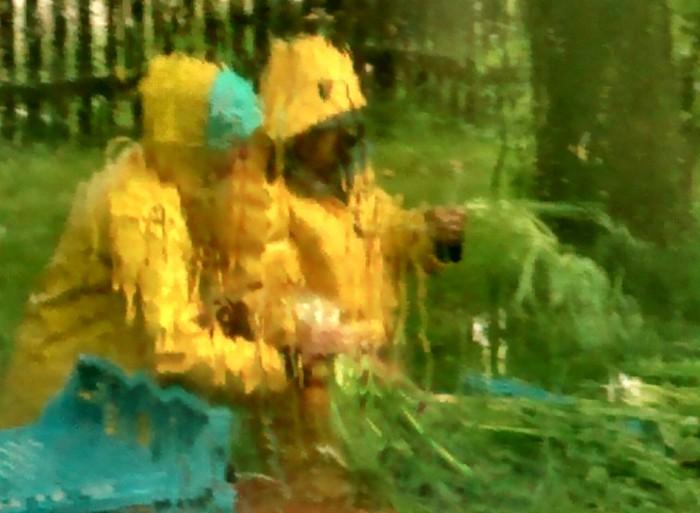 washing in the rain